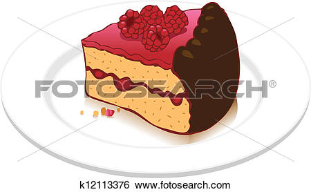 Clipart kuchenstck kostenlos picture library library Stock Illustration of Raspberry cake k12113376 - Search Clip Art ... picture library library