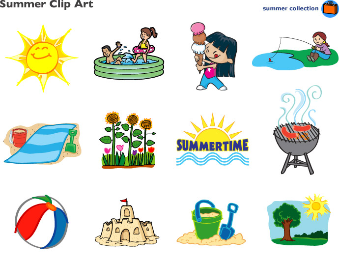 Summer clipart corner banner royalty free stock Summer clip art at lakeshore learning - Clipartable.com banner royalty free stock
