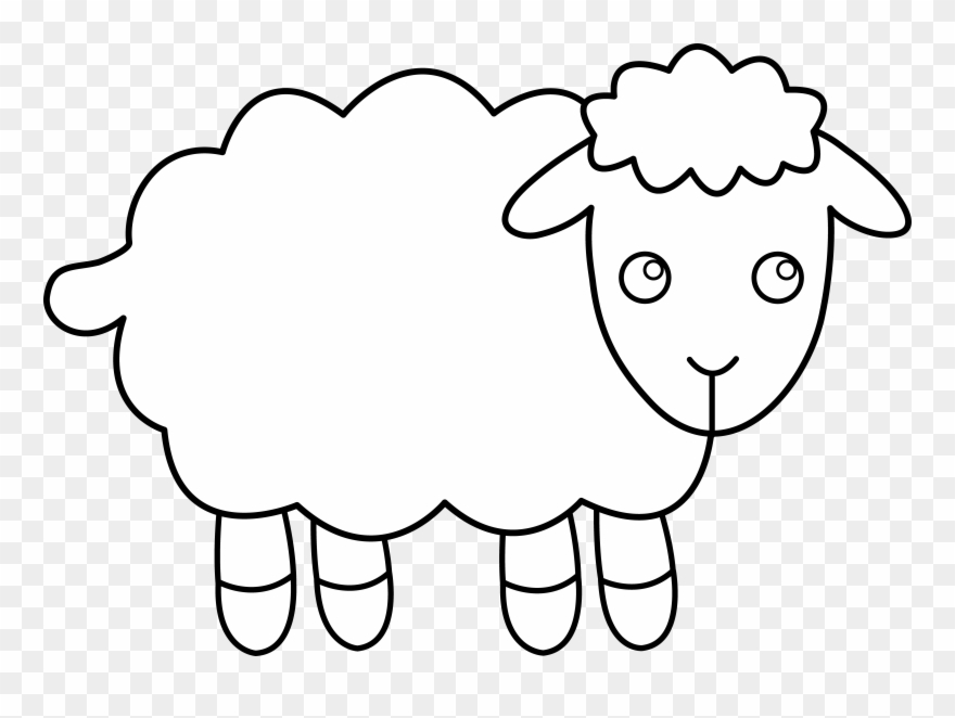 Clipart lambs vector free Lamb Clipart - Sheep Clip Art Outline - Png Download (#35341 ... vector free