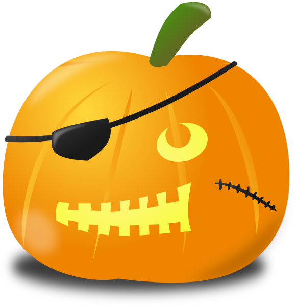 Huge pumpkin clipart png library library Pirate Pumpkin Clip Art at Clker.com - vector clip art online ... png library library