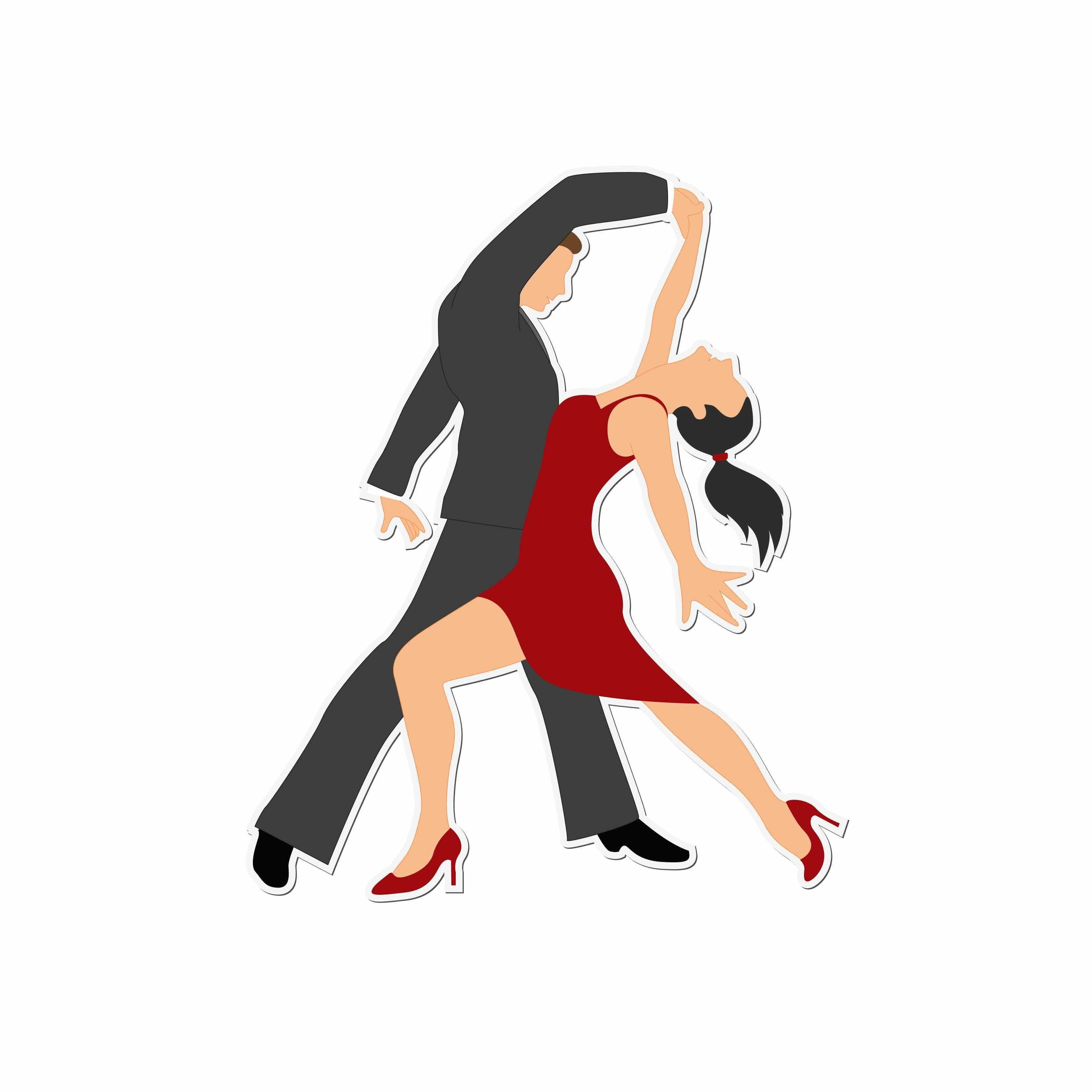 Salsa dancing clipart picture black and white stock Dancing : Clipart for embroidery, Assorted high quality clipart ... picture black and white stock
