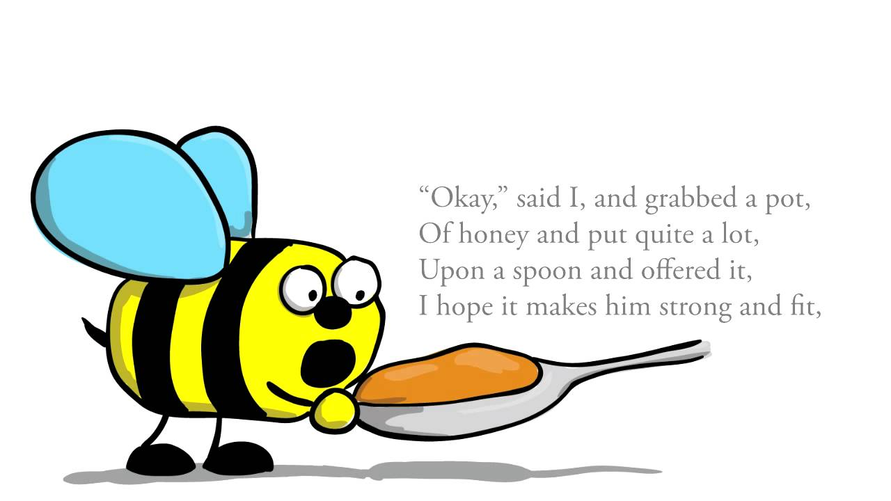 Clipart laughing bee graphic black and white download Children's poems in English