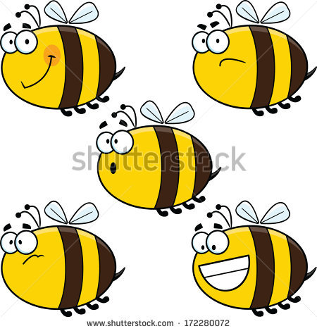 Clipart laughing bee clip art black and white Bee Cartoon Stock Images, Royalty-Free Images & Vectors | Shutterstock clip art black and white