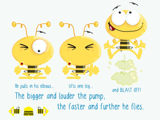 Clipart laughing bee png free download Pumpy Bee app's farty fun will have kids in stitches png free download