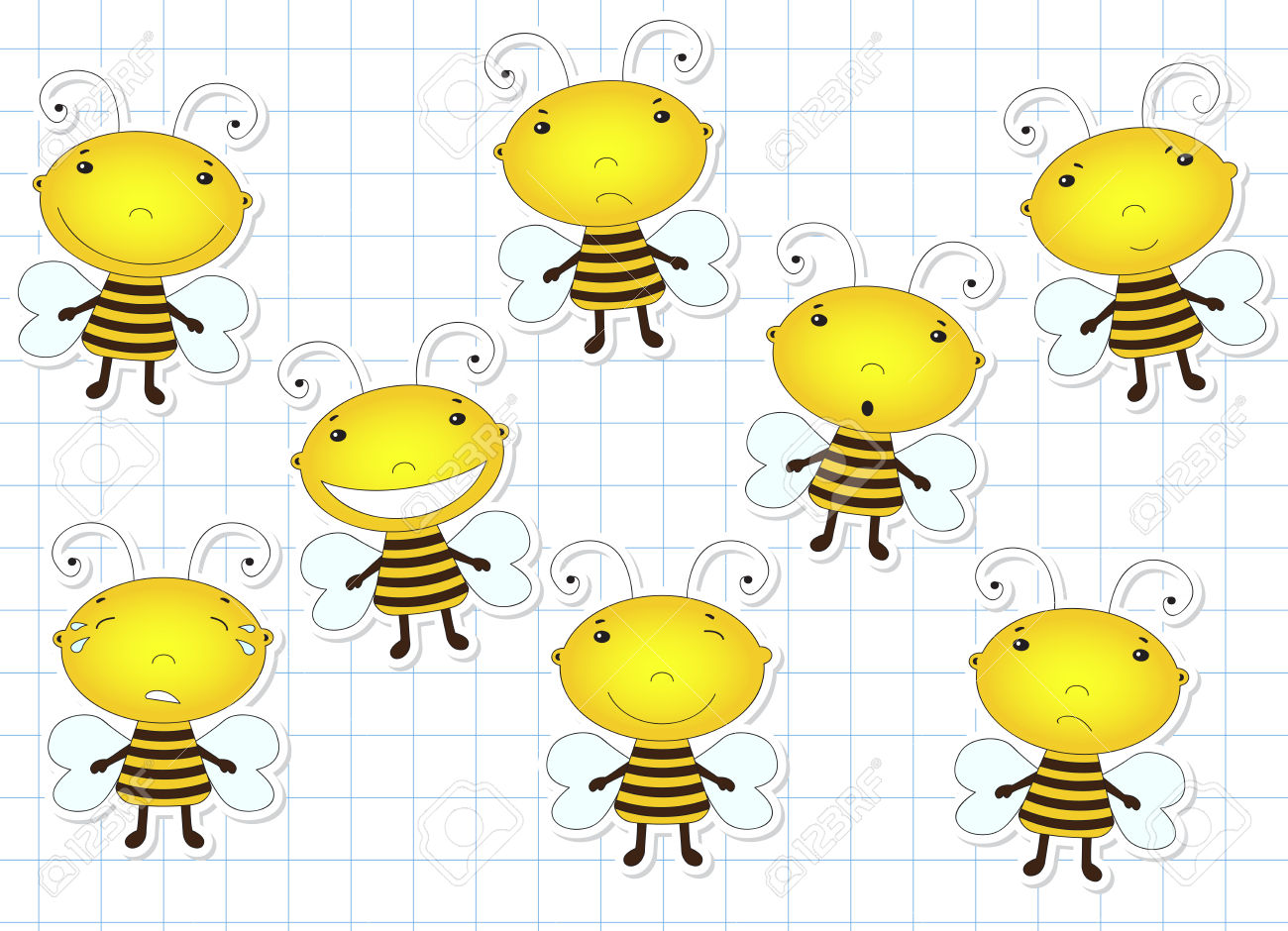 Clipart laughing bee picture black and white Clipart laughing bee - ClipartFest picture black and white