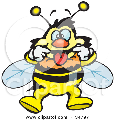 Clipart laughing bee jpg freeuse library Clipart Boy Teasing Sticking His Tongue Out And Wiggling His ... jpg freeuse library