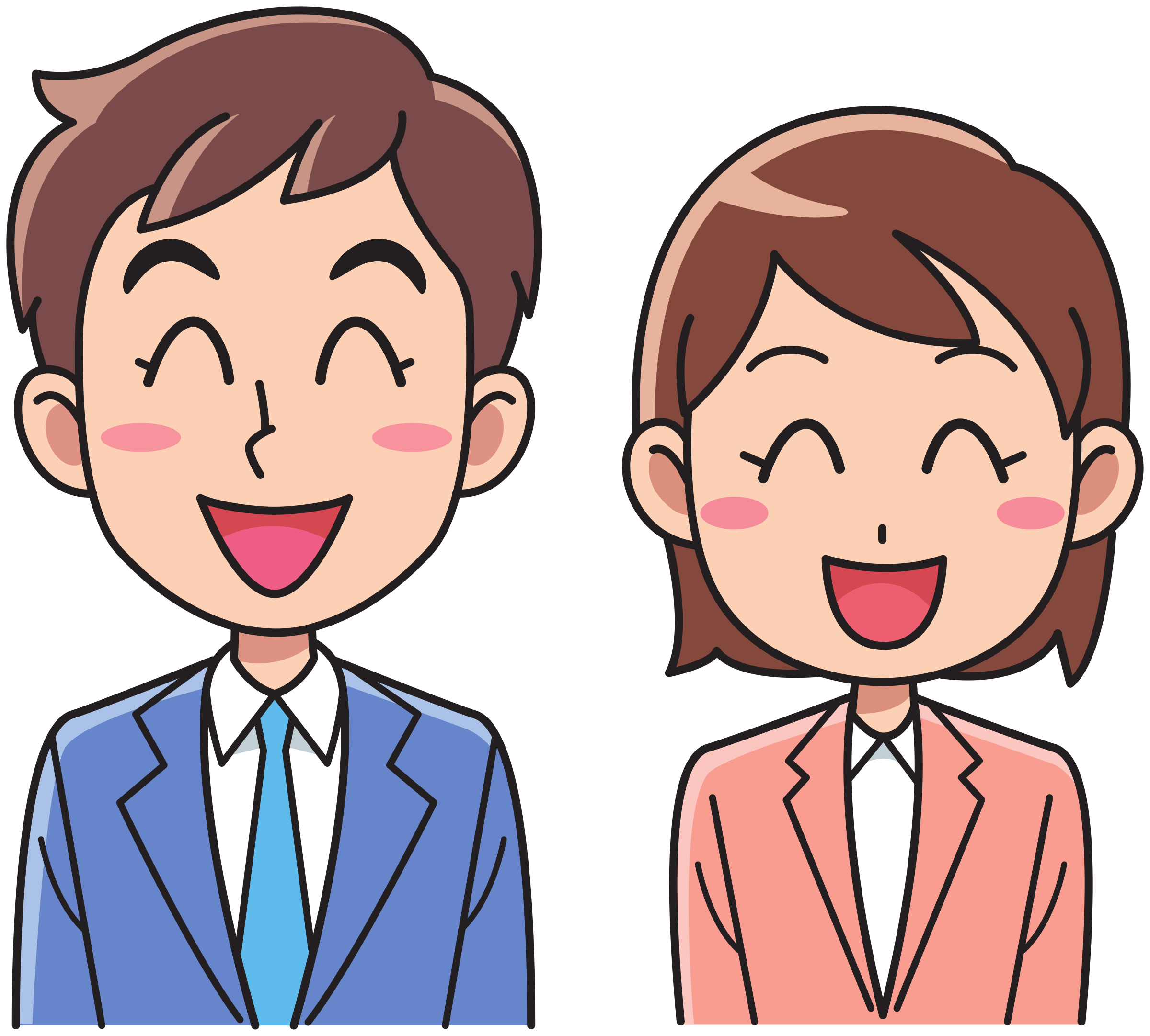 People laughing clipart graphic free library Clipart - Business man and woman - laughing graphic free library