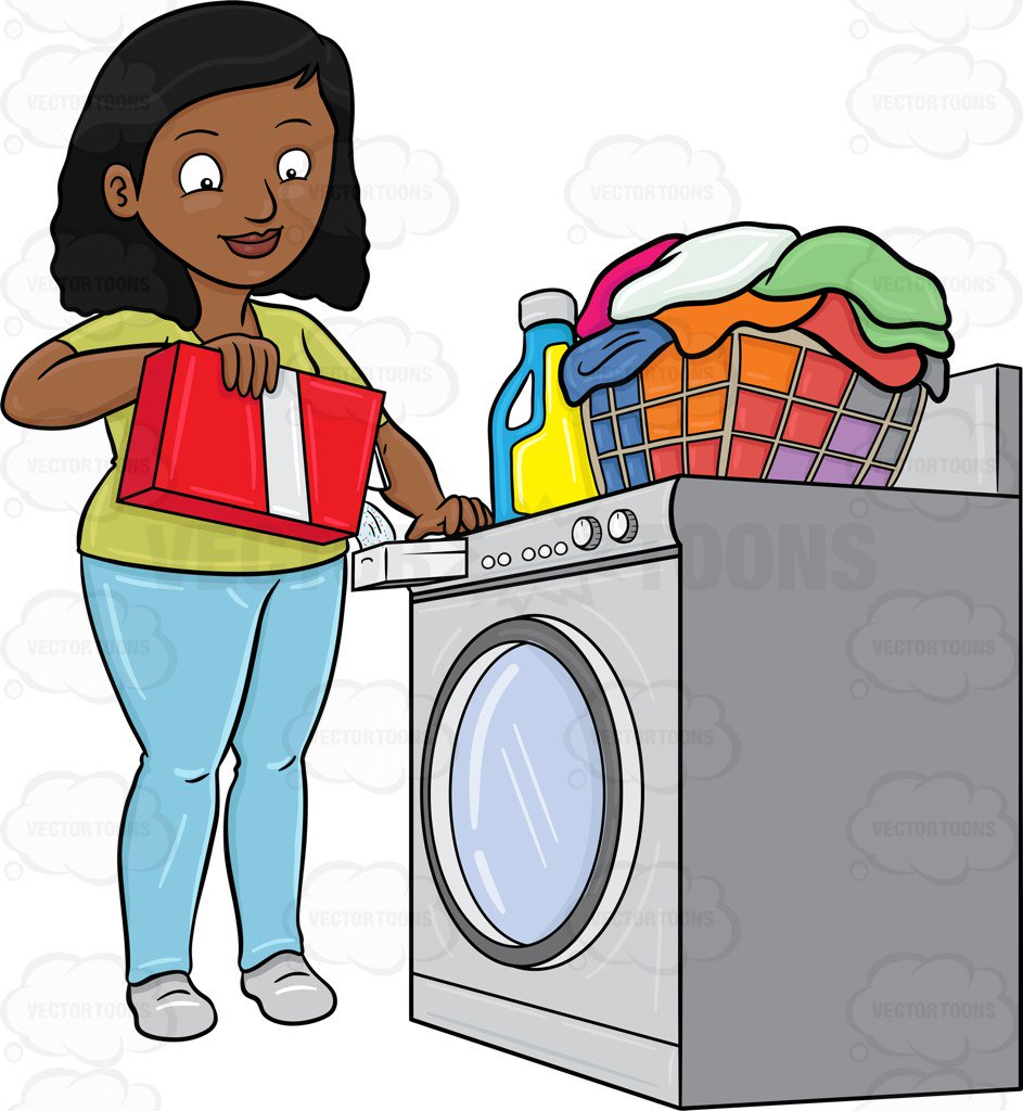 Do not overfill the washer clipart cartoon