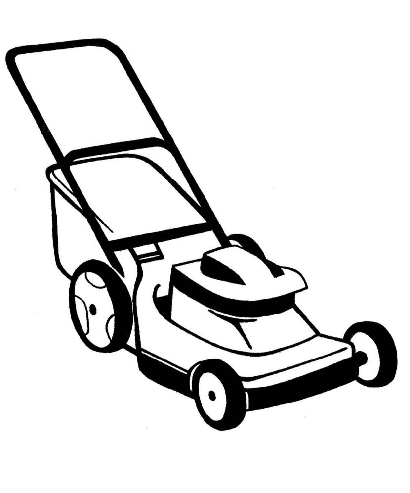 Push mower clipart