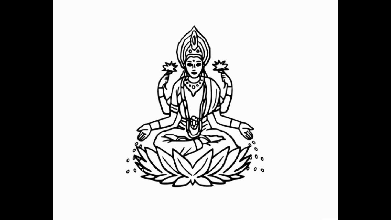 Clipart laxmi road clipart royalty free download Lakshmi Drawing at PaintingValley.com | Explore collection of ... clipart royalty free download