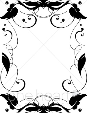 Clipart leaf black and white horizontal simple png library Ivy Border Clipart | Fall Borders png library