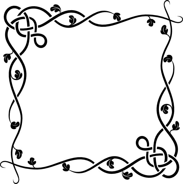 Simple flower border clipart black and white image download Border Clipart Black And White | Free download best Border Clipart ... image download
