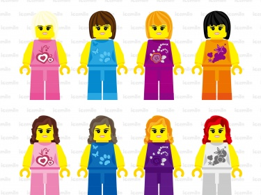 Clipart lego friends clipart freeuse Lego Friends Digital Clipart | Meylah clipart freeuse