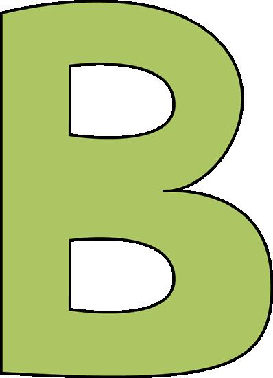 Clipart letter b