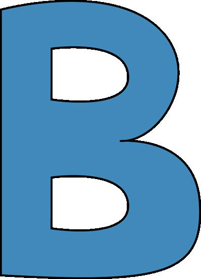Clipart letter b b free stock Letter b clip art - ClipartFest free stock