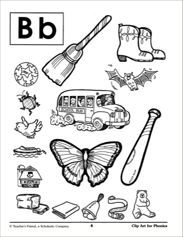 Clipart letter b b clipart library Letter Bb Illustrations: Phonics Clip Art} - Printables clipart library