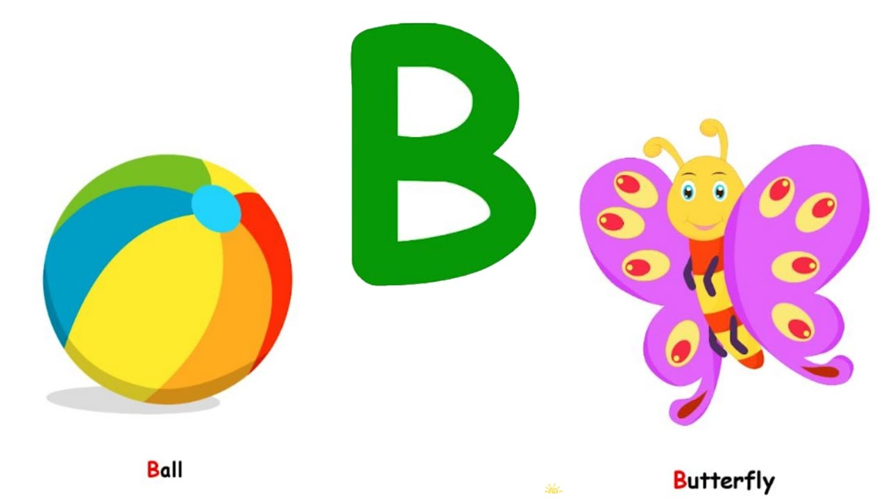 Clipart letter b b banner transparent library English Alphabet for kids | Learning alphabet with pictures ... banner transparent library