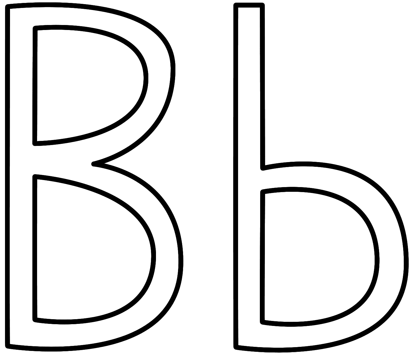 Clipart letter b b royalty free Letter B - Coloring Page (Alphabet) royalty free