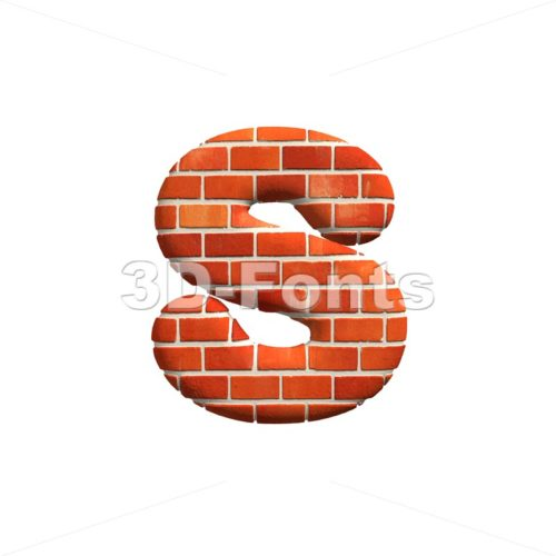 Clipart letter e red lower image download Brick 3d character E | Lower-case letter on white background image download