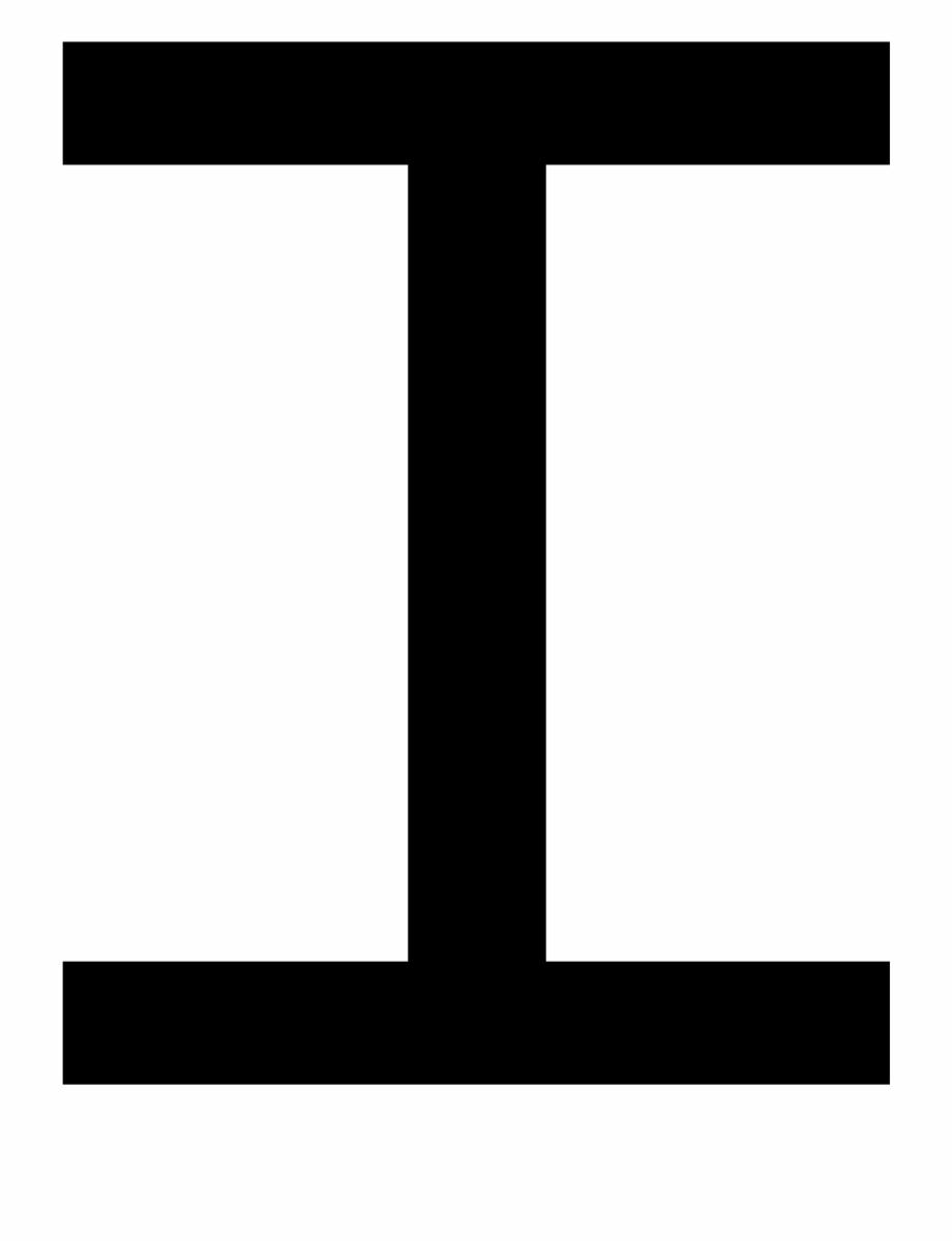 Clipart letter i