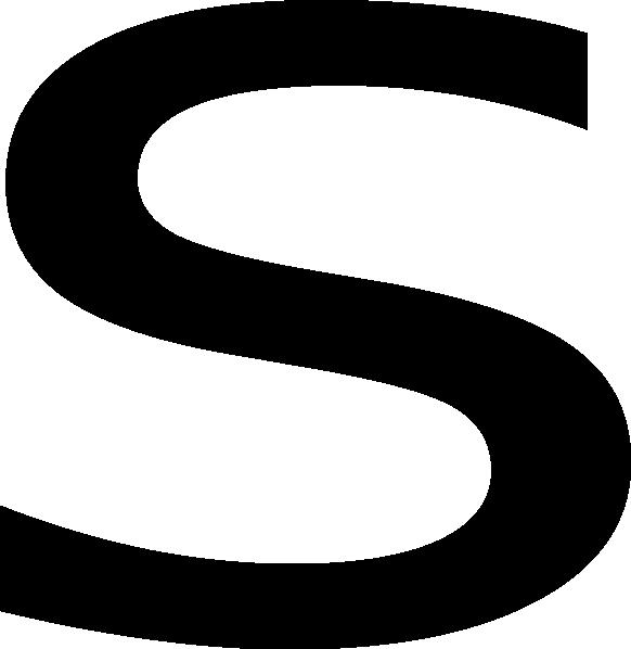Letter s clipart translucent