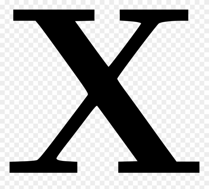 Clipart letter x clip transparent library Cyrillic Letter X Clipart, Vector Clip Art Online, - Letter X - Png ... clip transparent library