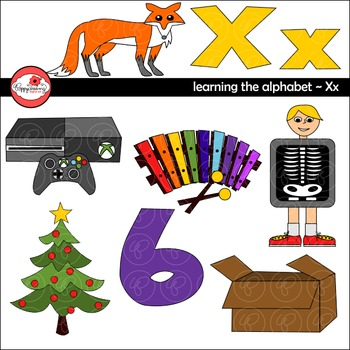 Clipart letter x vector stock Learning the Alphabet - The Letter X Clipart by Poppydreamz vector stock