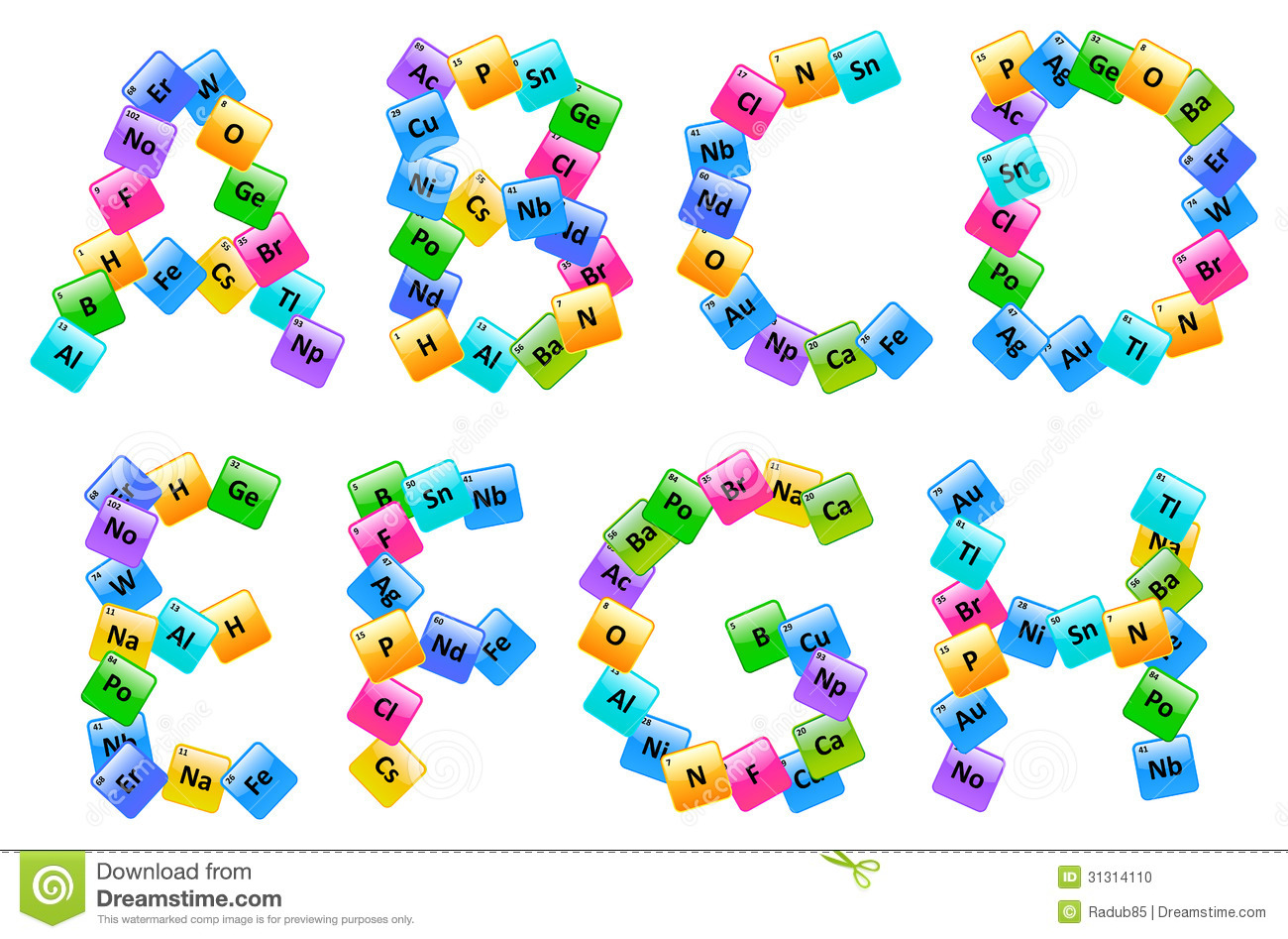 Clipart letters. Of clipartfest periodic table