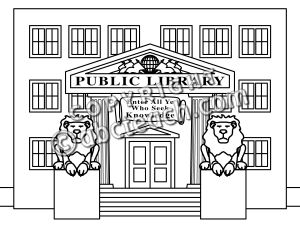 Clipart library black and white image freeuse download 48+ Library Clipart Black And White | ClipartLook image freeuse download