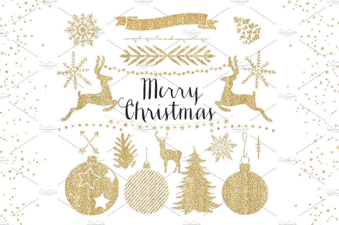 Clipart library collection of christmas sports clipart 32 image free stock Gold Christmas Clipart image free stock
