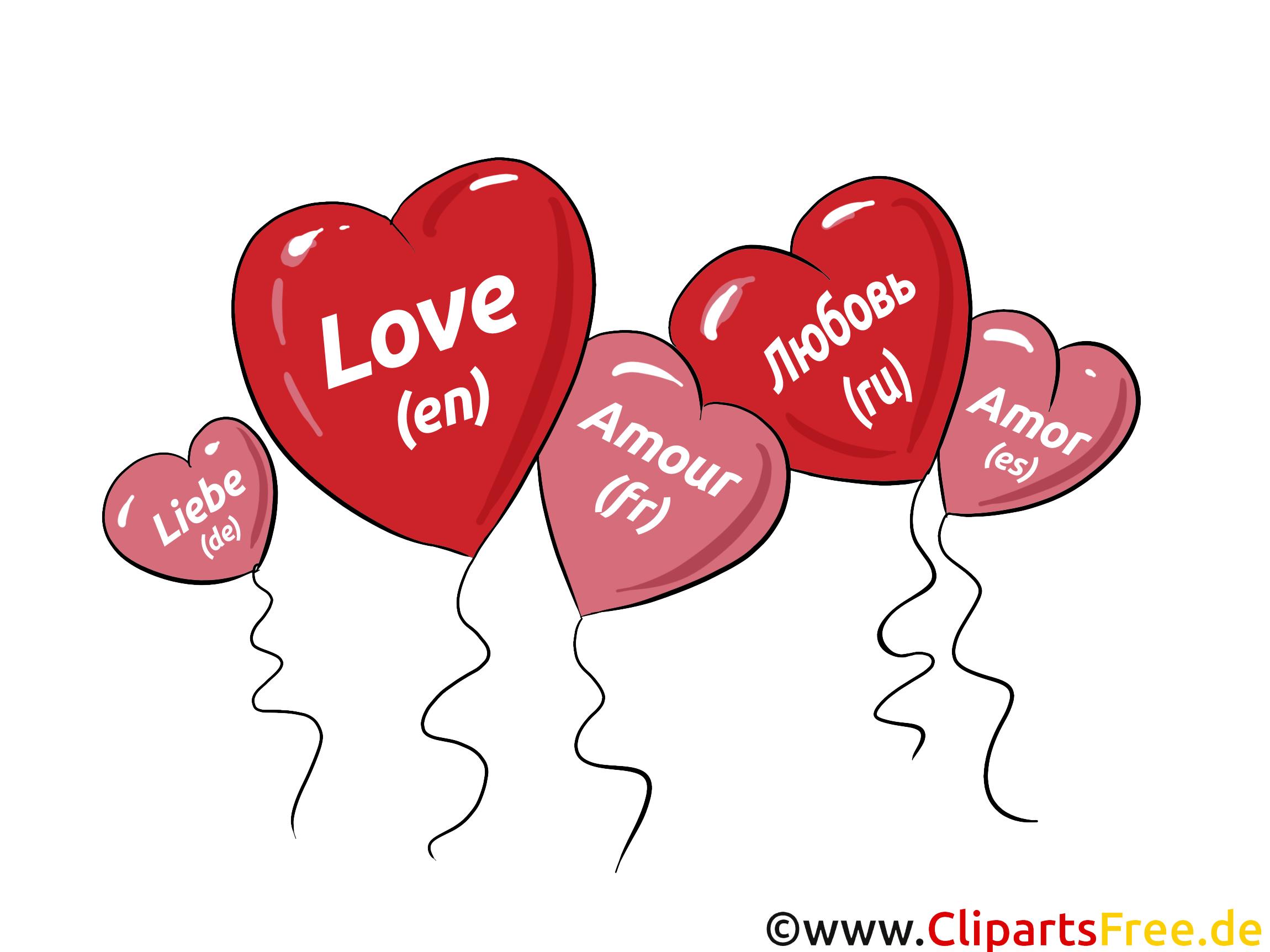 Clipart liebe png freeuse stock Herzen als Luftballons, Liebe Clipart, Bild, Grafik, Comic png freeuse stock