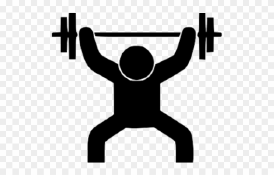 Clipart lifting weights