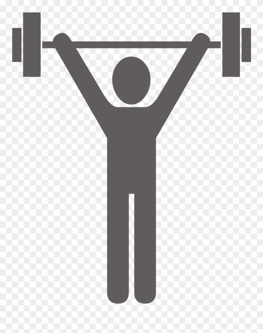 Clipart lifting weights png freeuse download Open - Stick Man Lifting Weights Clipart (#1134776) - PinClipart png freeuse download