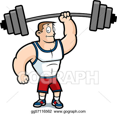Clipart lifting weights jpg black and white download Vector Art - Lifting weights. EPS clipart gg57116562 - GoGraph jpg black and white download