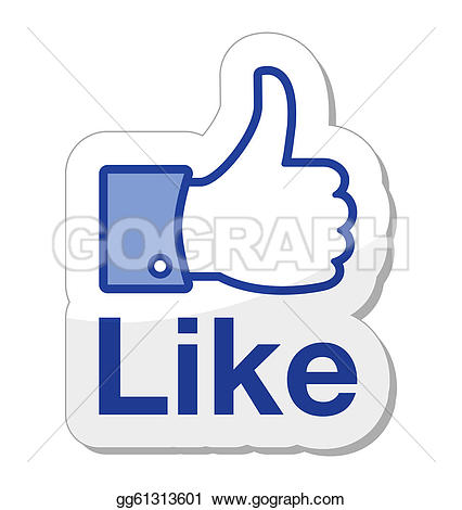 Clipart like facebook png freeuse stock Vector Stock - Facebook like it button. Stock Clip Art gg61313601 ... png freeuse stock