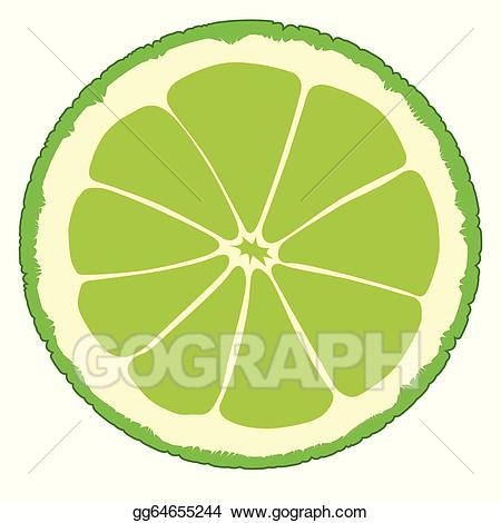 Clipart lime svg library download Vector Clipart - Lime slice. Vector Illustration gg64655244 - GoGraph svg library download