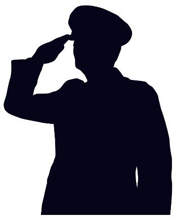 Clipart line drawing boy and girl saluting flag clip art free Soldier Saluting Drawing | Displaying (20) Gallery Images For Army ... clip art free
