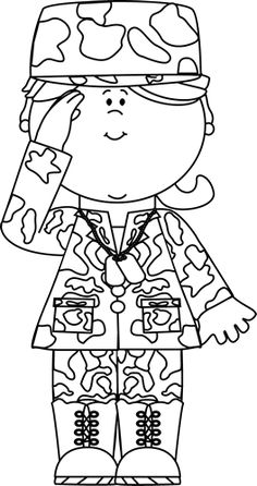 Clipart line drawing boy and girl saluting flag jpg royalty free 8 Best Clip Art-Army/Navy images in 2015 | Clip art, Army & navy, Art jpg royalty free