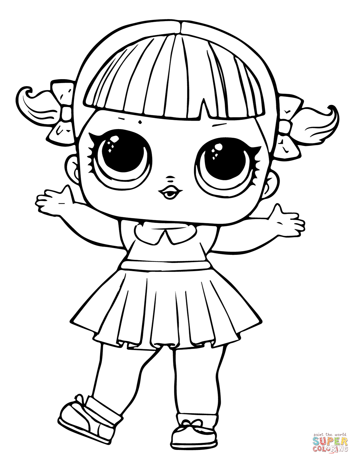 Clipart line tracing picture doll