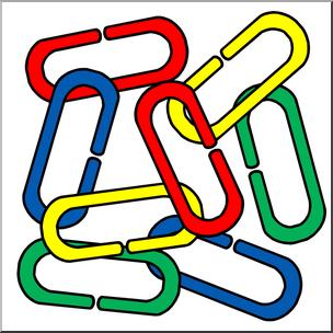 Clipart links clip art freeuse download Clip Art: Classroom Manipulatives: Links Color   abcteach clip art freeuse download