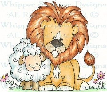 Clipart lion and lamb