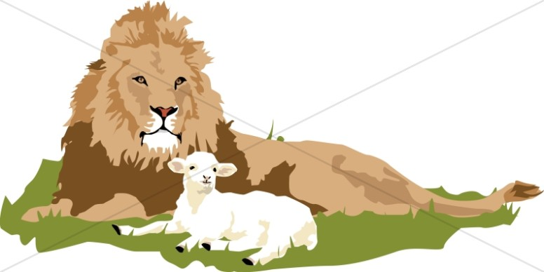 Clipart lion and lamb banner freeuse download The Lamb and the Lion | Old Testament Clipart banner freeuse download