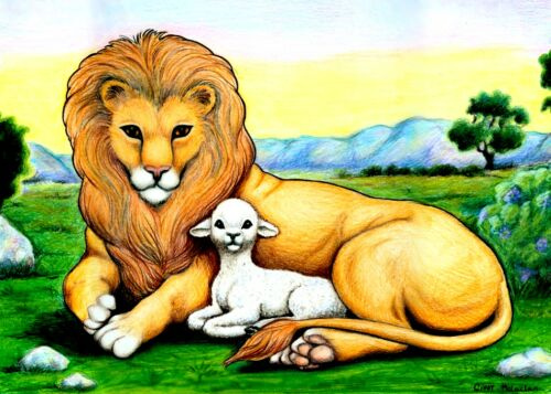 Clipart lion and lamb image freeuse library Lion and lamb clipart 2 » Clipart Station image freeuse library