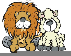 Clipart lion and lamb graphic freeuse stock Lion And Lamb Clipart | Free Images at Clker.com - vector clip art ... graphic freeuse stock