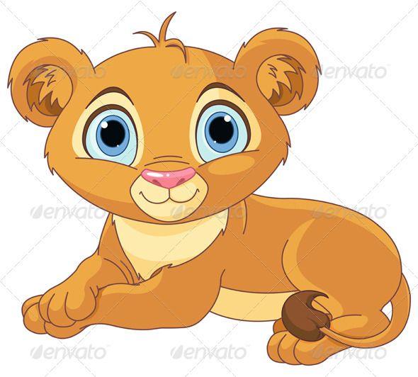 Lion and cub clipart svg Resting Little Lion Cub | animals | Lion cub, Cartoon lion, Baby ... svg