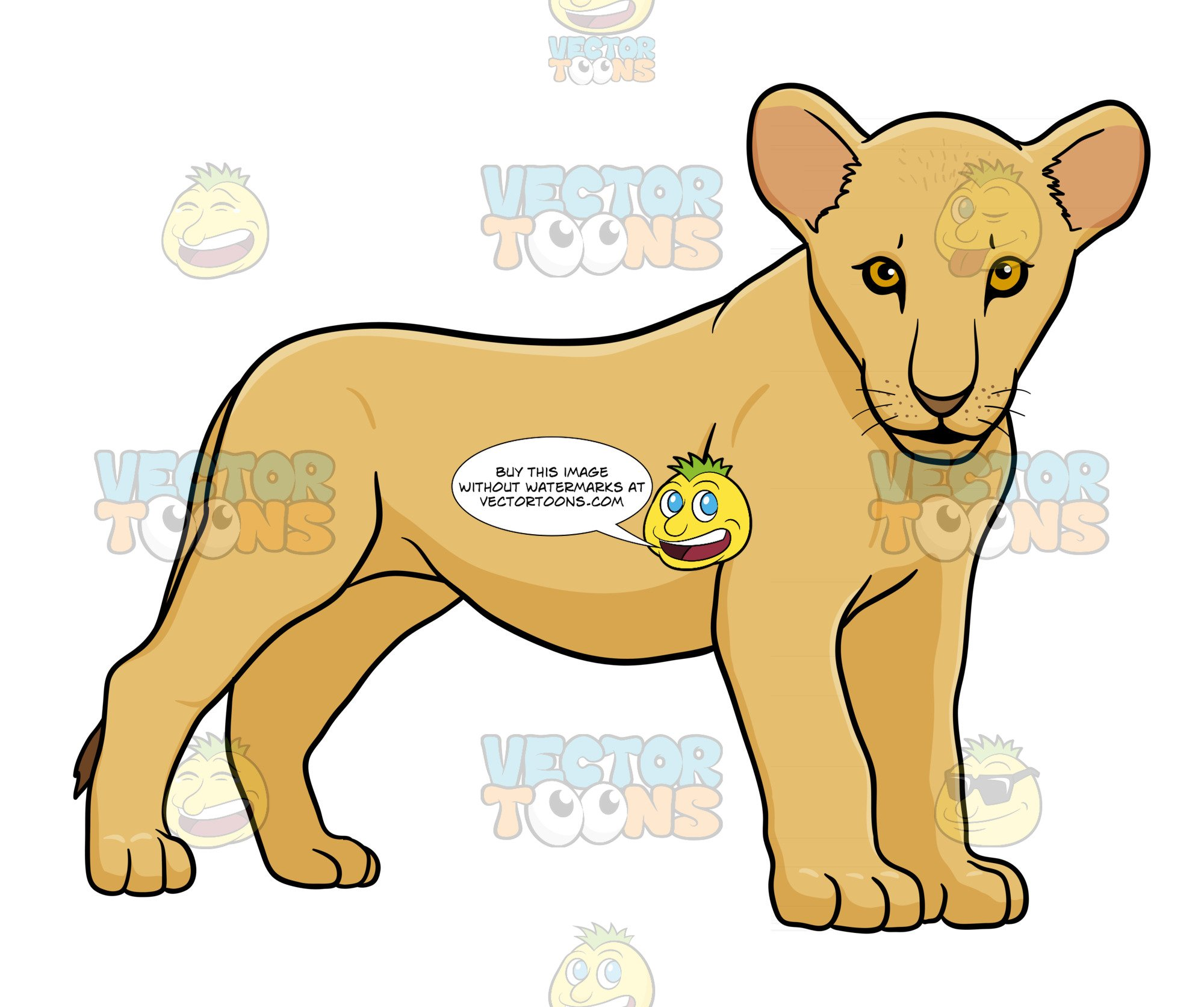 Lion and cub clipart graphic free library Lion Cub Standing graphic free library