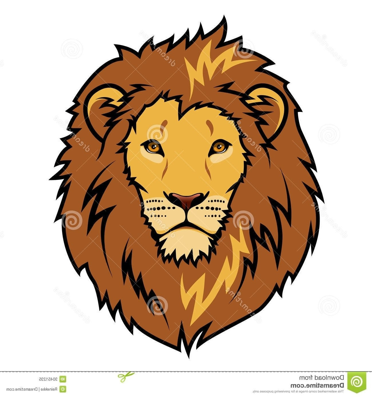 Lion face images clipart clipart black and white download Lion Face Clipart #108015 throughout Simple Lion Head Clipart ... clipart black and white download