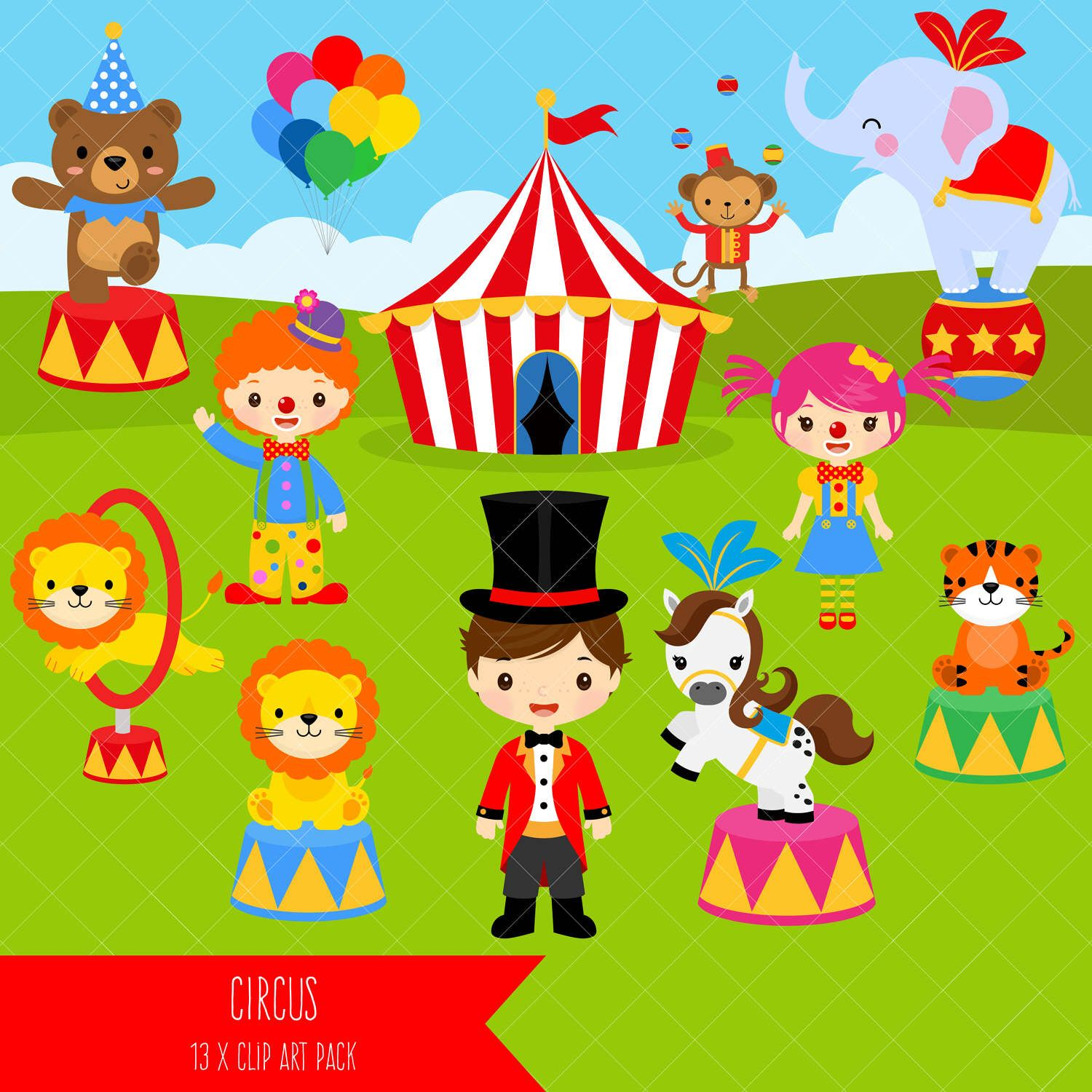 Clipart lion tamer svg black and white library Circus Clipart / Carnival Clip Art / Clowns / Lion Tamer / Circus ... svg black and white library