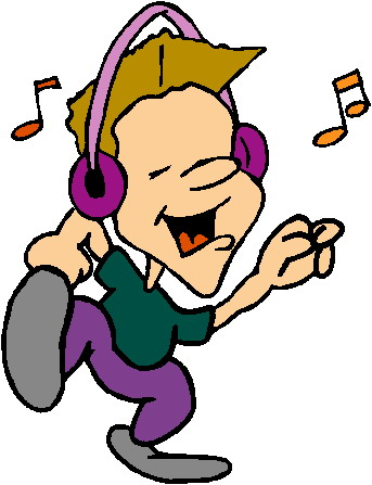 Clipart listen to music picture black and white library Listening to music clip art | Clipart Panda - Free Clipart Images picture black and white library