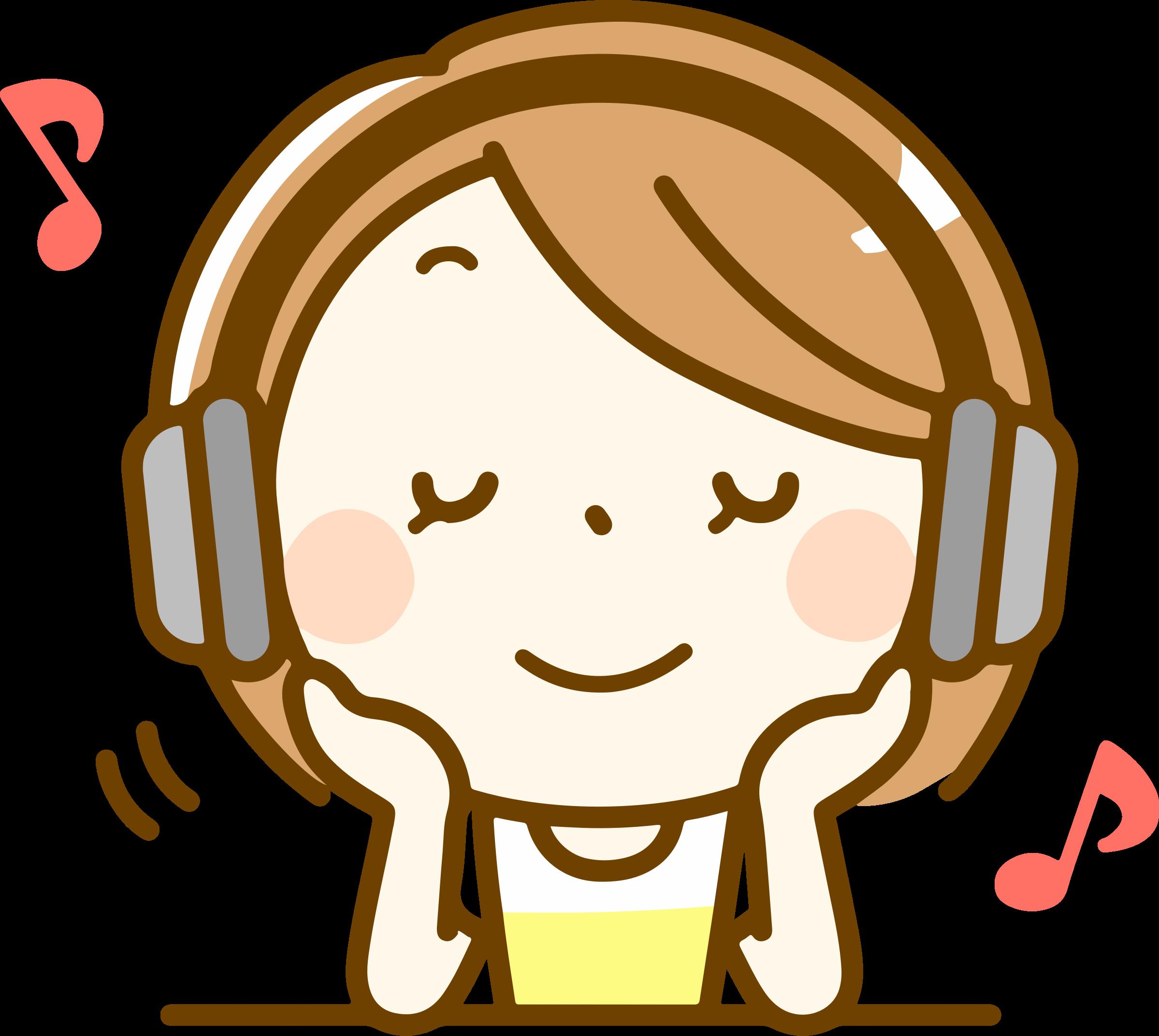 Listening images clipart transparent download Girl listening to music clipart clipart images gallery for free ... transparent download